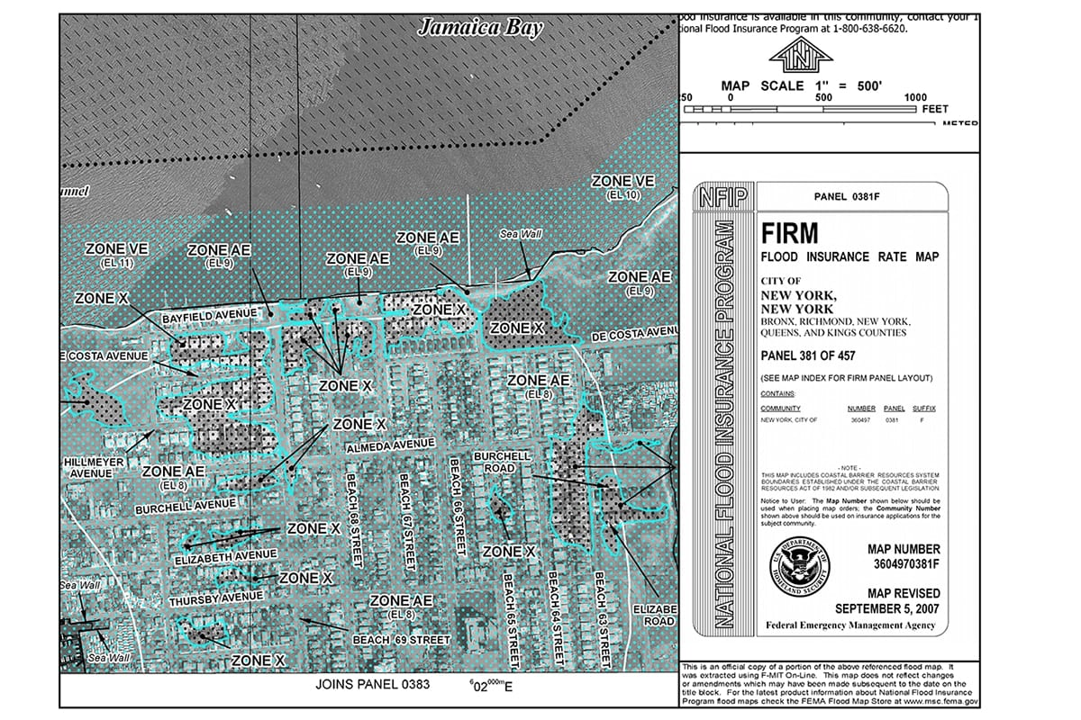 Flood Insurance Rate Map FIRM
